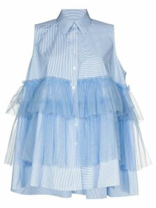 Viktor & Rolf tiered ruffled shirt - Blue