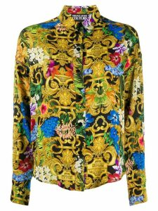 Versace Jeans Couture baroque print shirt - Yellow