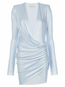Alexandre Vauthier gathered low-cut dress - Blue