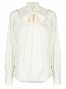 Zimmermann pussy-bow silk blouse - NEUTRALS
