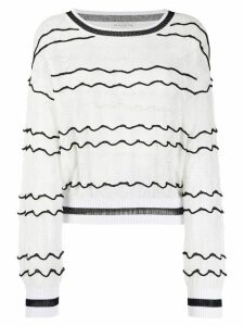 Ballantyne fine knit jumper - White