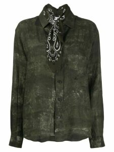 Destin bandana neck shirt - Green
