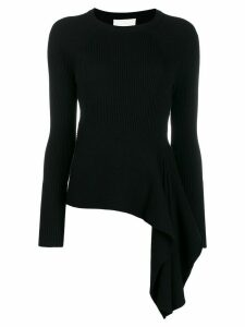 3.1 Phillip Lim Ribbed Sweater With Waist Tie - Black