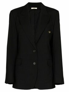 Zilver oversized structured blazer - Black