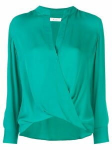 A.L.C. wrap front blouse - Green