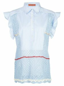 Altuzarra Batten crochet blouse - Blue