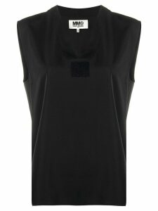 Mm6 Maison Margiela sleeveless V-neck top - Black
