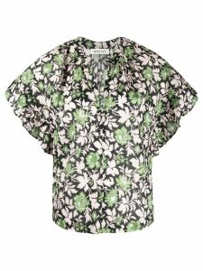 Masscob floral print blouse - Black