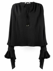 Balmain crepe blouse - Black