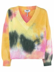 MSGM tie-dye knit jumper - Yellow
