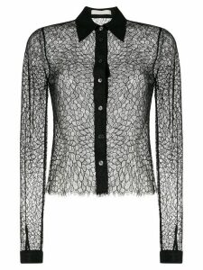 Dion Lee sheer lace shirt - Black