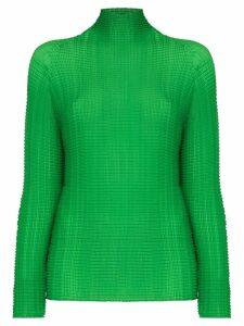 Issey Miyake high neck top - Green