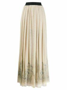 John Richmond sequin-embellished maxi skirt - NEUTRALS