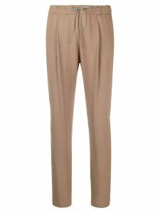 Fabiana Filippi drawstring-waist tapered trousers - NEUTRALS