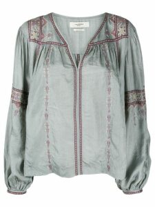 Isabel Marant Étoile Tosca cross-stitch embroidered tunic - Blue