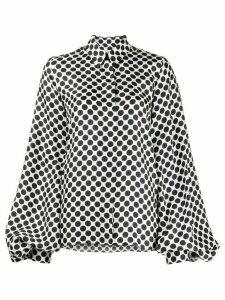 Alexandre Vauthier silk polka dot shirt - White