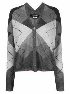 Junya Watanabe oversized geometric cardigan - Grey