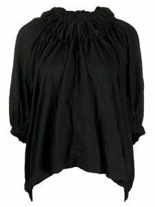 Comme Des Garçons Comme Des Garçons ruched circle-hem blouse - Black
