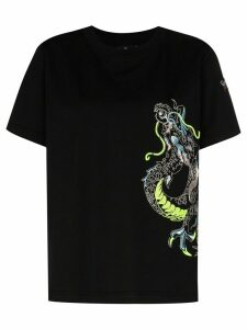 Angel Chen dragon embroidered T-shirt - Black