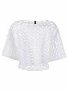 Pierantoniogaspari embroidered cropped top - White