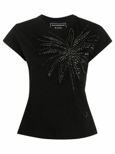 Ermanno Scervino embellished palm tree motif T-shirt - Black