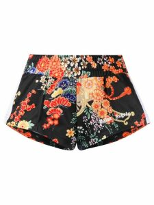 Palm Angels floral mini track shorts - Black
