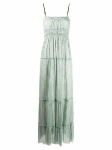 Alysi square neck ruched detail dress - Blue