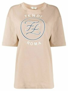 Fendi Karligraphy motif oversized T-shirt - NEUTRALS