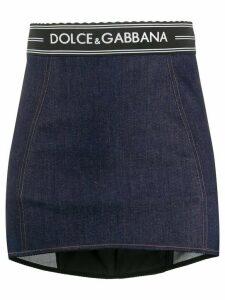 Dolce & Gabbana fitted denim miniskirt - Blue