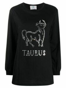 Alberta Ferretti Taurus crystal-embellished jumper - Black