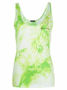 Versace Tie-Dye print sleeveless top - Green