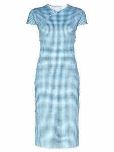 Marcia Tchikiboum gingham-print midi dress - Blue