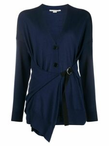 Stella McCartney wrap-style buckle-strap cardigan - Blue