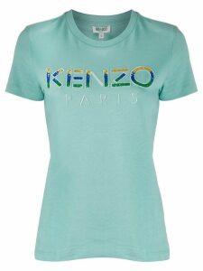 Kenzo sequin logo T-shirt - Blue