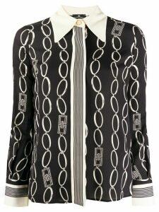 Elisabetta Franchi chain print blouse - Black
