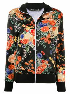 Palm Angels floral track jacket - Black