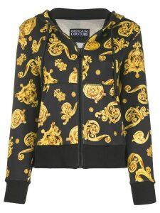 Versace Jeans Couture Barocco print zip hoodie - Black