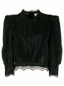 IRO Avil lace trim blouse - Black