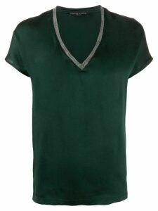Fabiana Filippi monili embellished silk T-shirt - Green