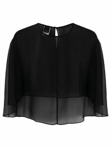 Pinko sheer cape blouse - Black