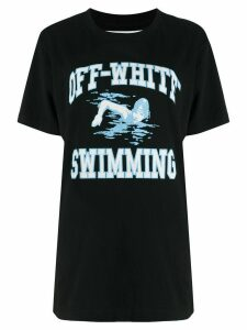 Off-White swimming print T-shirt - Black
