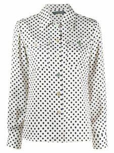 Alexa Chung polka-dot patch pocket shirt - NEUTRALS