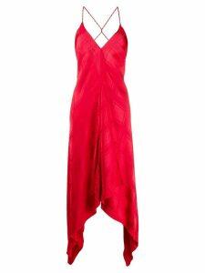 Golden Goose v-neck handkerchief hem dress - Red