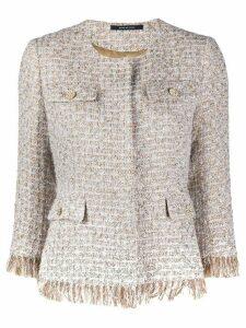 Tagliatore Meg tweed jacket - NEUTRALS