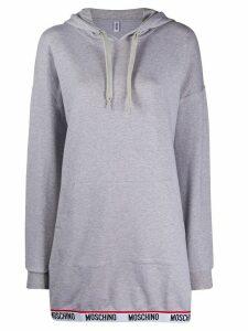 Moschino logo band knitted hoodie - Grey