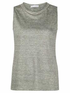 Fabiana Filippi beaded-neckline tank top - Grey