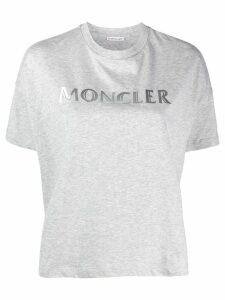 Moncler logo print T-shirt - Grey