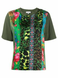 Pierre-Louis Mascia patchwork mixed-print T-shirt - Green