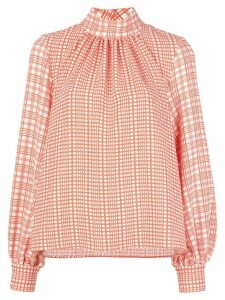Stine Goya plaid-print blouse - Red