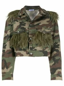 P.A.R.O.S.H. cropped camouflage-print jacket - Brown